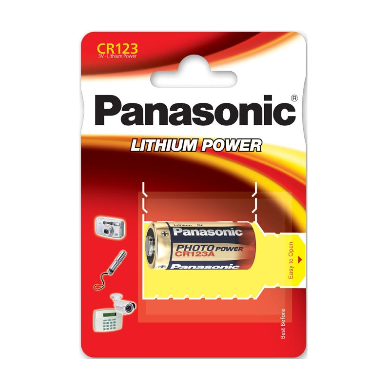 Батарейка Panasonic Lithium Power CR123A